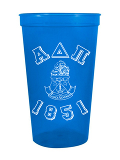Alpha Delta Pi Custom Greek Crest Est Stadium Cup