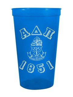 Alpha Delta Pi Custom Greek Crest Est Stadium Cup