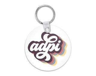 Alpha Delta Pi Retro Script Keychain
