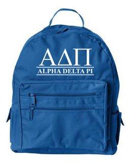 Alpha Delta Pi Custom Text Backpack