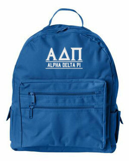 Alpha Delta Pi Custom Text Backpack
