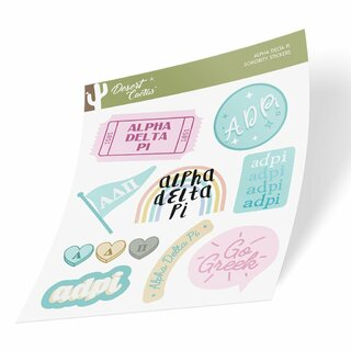 Alpha Delta Pi Cute Sticker Sheet