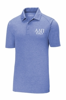 Alpha Delta Pi Dad Posicharge Tri Blend Wicking Polo