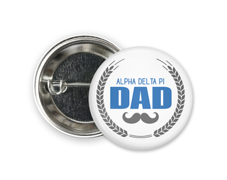 Alpha Delta Pi Dadstache Button