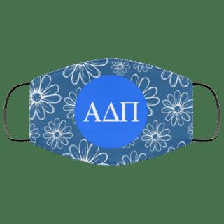 Alpha Delta Pi Daisies Face Mask