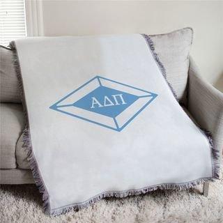 Alpha Delta Pi Diamond Afghan Blanket Throw