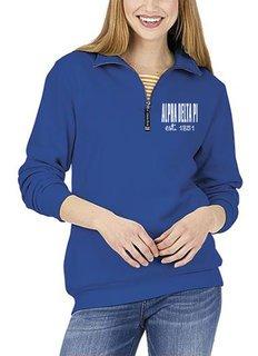 Alpha Delta Pi Established Crosswind Quarter Zip Sweatshirt