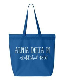 Alpha Delta Pi Established Tote bag