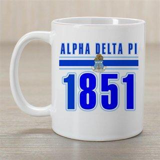 Alpha Delta Pi Established Year Coffee Mug - Personalized!