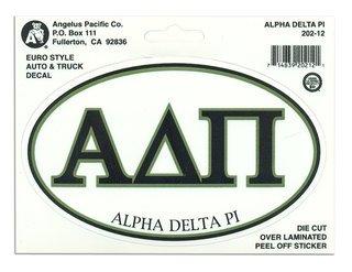 Alpha Delta Pi Euro Style Sticker