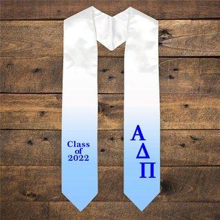 Alpha Delta Pi Extra Fancy Classic Greek Graduation Stole