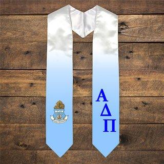 Alpha Delta Pi Extra Fancy Diagonal Greek Graduation Stole W Crest