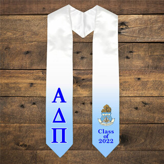 Alpha Delta Pi Extra Fancy Greek Class Of 2022 Graduation Stole