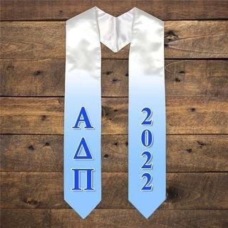Alpha Delta Pi Extra Fancy Greek Graduation Stole W Year