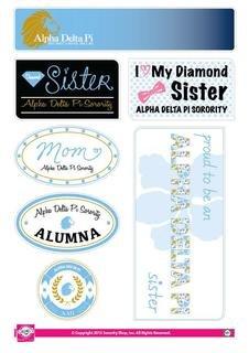 Alpha Delta Pi Family Sticker Sheet