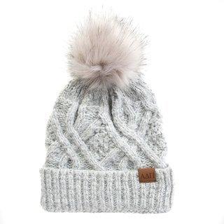 Alpha Delta Pi Faux Fur Pom Beanie Hat