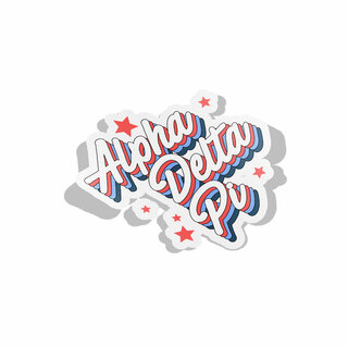 Alpha Delta Pi Flashback Decal Sticker