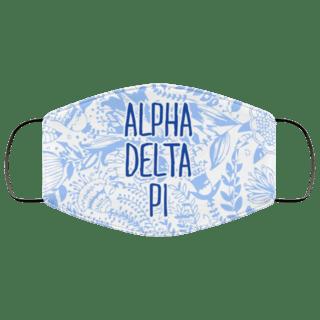 Alpha Delta Pi Floral Face Mask