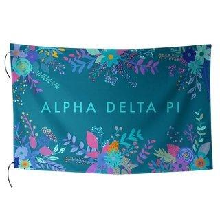 Alpha Delta Pi Floral Flag