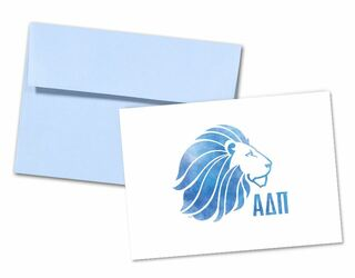 Alpha Delta Pi Watercolor Alphie Notecards(6)