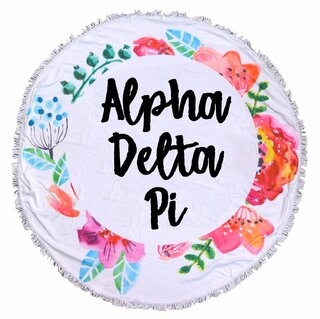 Alpha Delta Pi Fringe Towel Blanket