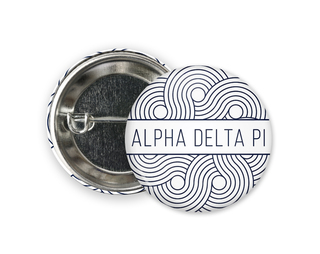 Alpha Delta Pi Geo Scroll Button Pin
