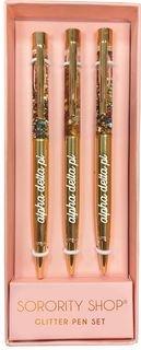 Alpha Delta Pi Glitter Pens (Set of 3)