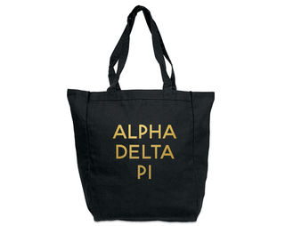 Alpha Delta Pi Gold Foil Tote bag