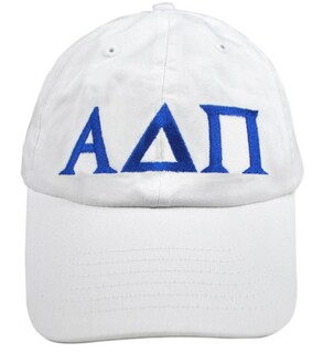 Alpha Delta Pi Greek Letter Hat