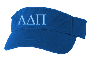 Alpha Delta Pi Greek Letter Visor