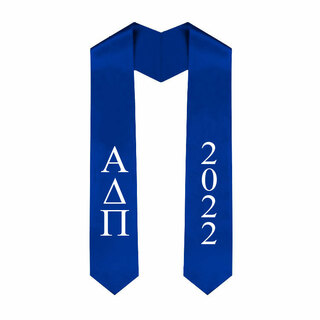 Alpha Delta Pi Greek Lettered Graduation Sash Stole With Year - Best Value