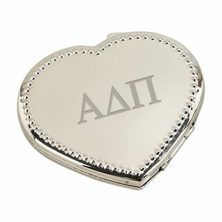 Alpha Delta Pi Heart Shaped Classic Compact