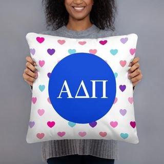 Alpha Delta Pi Hearts Pillow