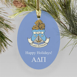 Alpha Delta Pi Holiday Color Crest - Shield Ornament
