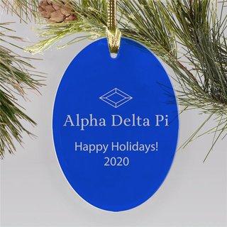 Alpha Delta Pi Holiday Color Mascot Christmas Ornament