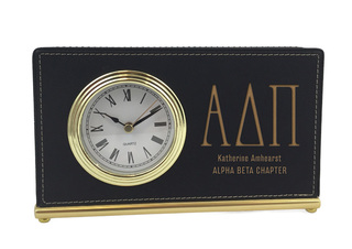 Alpha Delta Pi Horizontal Desk Clock