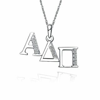 Alpha Delta Pi Horizontal Silver Lavalier