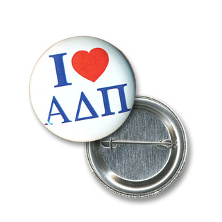 Alpha Delta Pi I Love Mini Sorority Buttons