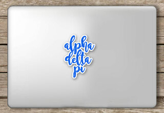 Alpha Delta Pi Script Sticker