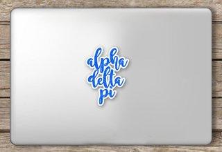 Alpha Delta Pi Script Sticker