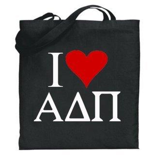 Alpha Delta Pi I Love Tote Bags