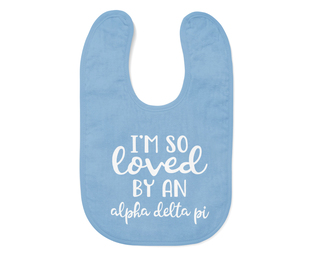 Alpha Delta Pi I'm So Loved Baby Bib