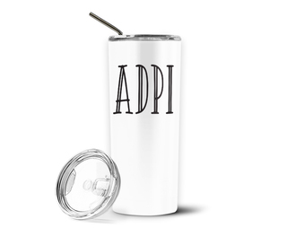 Alpha Delta Pi Inline Stainless Tumbler