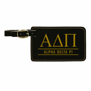 Alpha Delta Pi Leatherette Luggage Tag