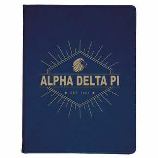Alpha Delta Pi Leatherette Mascot Portfolio with Notepad