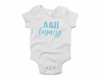Alpha Delta Pi Legacy Baby Outfit Onesie