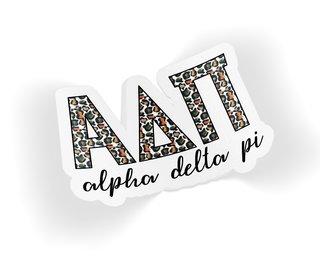 Alpha Delta Pi Leopard Sticker