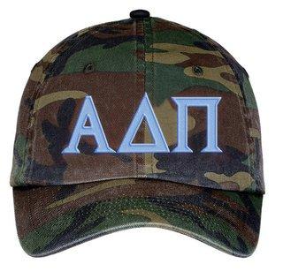 Alpha Delta Pi Lettered Camouflage Hat