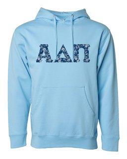 Alpha Delta Pi Lettered Independent Trading Co. Hooded Pullover Sweatshirt