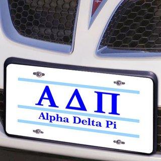 Alpha Delta Pi Lettered Lines License Cover